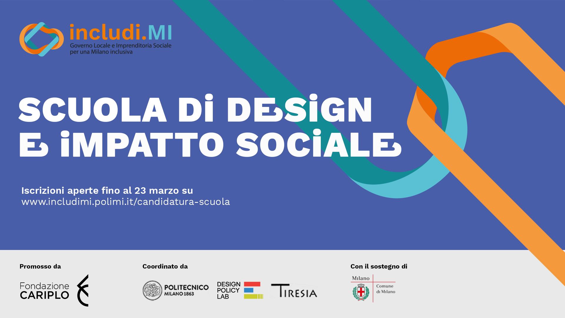 Scuola di design e impatto sociale includi mi for Scuola del design polimi